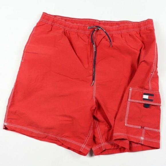 653339793e355 Tommy Hilfiger Swim | Vintage Flag Logo Trunks Red | Poshmark